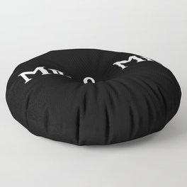 Mr & Mr Monogram bold Floor Pillow
