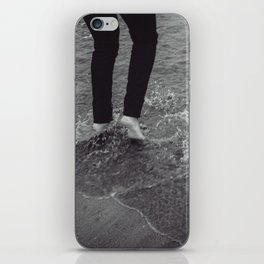 Playing with the ocean iPhone Skin