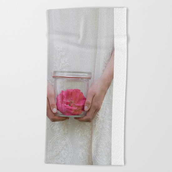 Trapped Rose Beach Towel