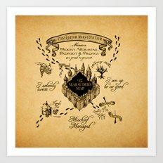 Marauders Map Art Print