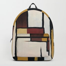 Composition with squares and rectangles Backpack