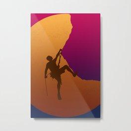 Climbing sunset No2 Metal Print