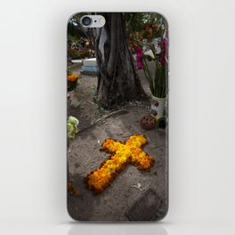 Marigold cross iPhone Skin
