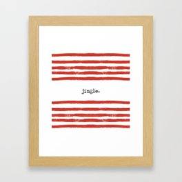red stripes-jingle Framed Art Print