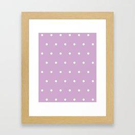 Polka Dots Lavender Lilac Purple Framed Art Print