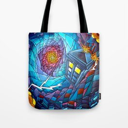 Tardis stained glass style Tote Bag