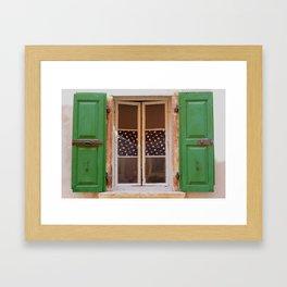 Windows of Croatia  Framed Art Print