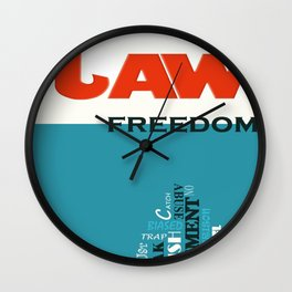 Laws of Freedom Wall Clock