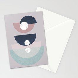 Simone - mid century géométrie Stationery Cards