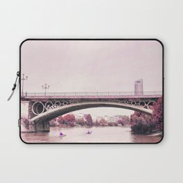 Pink mood at Triana Bridge Laptop Sleeve