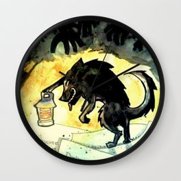 Storybook Wolf Wall Clock