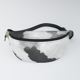 Ink Blot Abstract Watercolor Fanny Pack