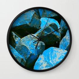 Azure Blue Boulders From Baja Peninsula, Mexico Wall Clock