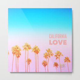 California Love Palms Metal Print