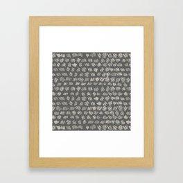 Scribbles Harmony Framed Art Print