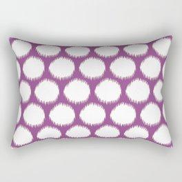 Plum Asian Moods Ikat Dots Rectangular Pillow
