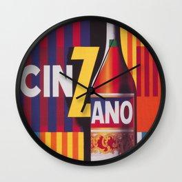 Cinzano Vintage Beverage Poster Wall Clock