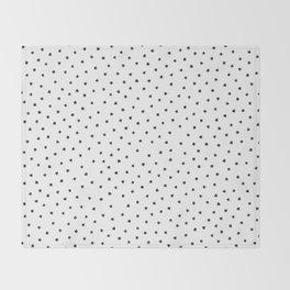 Black Cats Polka Dot Throw Blanket
