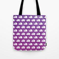 Elephants In Love (Purple) Tote Bag