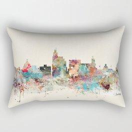 jackson mississippi skyline Rectangular Pillow