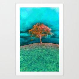ABSTRACT - solitary tree Art Print