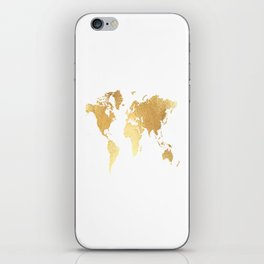 Textured Gold Map iPhone Skin