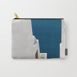 Steps to the Aegean - Santorini, Greece - Minimalist Travel Painting Carry-All Pouch