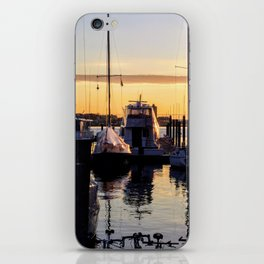 Boston Harbor Sunrise - Boats iPhone Skin