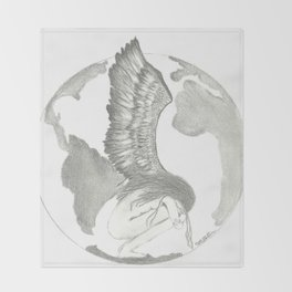 Earth Angel Throw Blanket