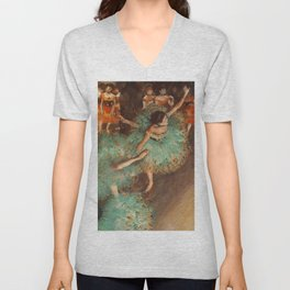 The Green Dancer 1879 By Edgar Degas | Reproduction | Famous French Painter Unisex V-Neck