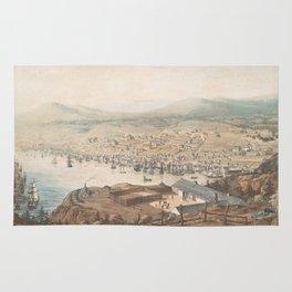 Vintage Pictorial Map of St Johns Newfoundland (1831) Rug