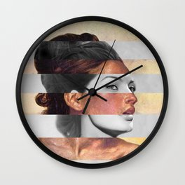 Delacroix's Orphan Girl at the Cemetery & Sophia Loren Wall Clock