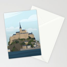 Mont Saint Michel (no writing) Stationery Cards