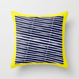 Textured Blue Diagonal Lines Throw Pillow