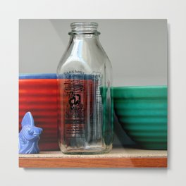 Shelved Yet Easily Accessible Metal Print