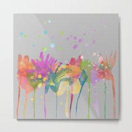 Watercolor flowers dp059-10 Metal Print