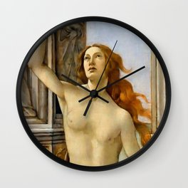 "Sandro Botticelli ""The Calumny of Apelles"" detail Wall Clock"