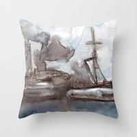 boats Throw Pillows featuring Boats by Marine Koprivnjak