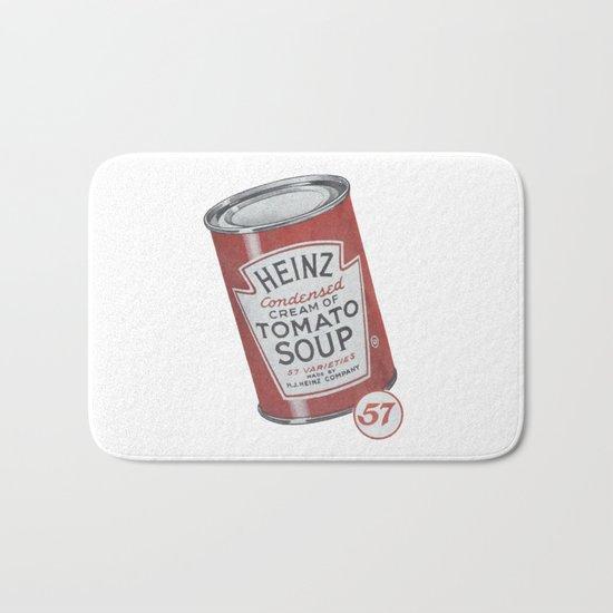 Heinz tomato soup can Bath Mat