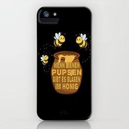 bee bumblebee honey pot children design iPhone Case