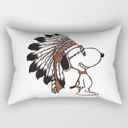 Indian Snoopy Rectangular Pillow