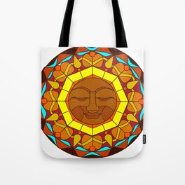 Man in the Moon, Tatoo style Tote Bag