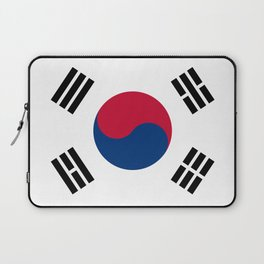 National flag of South Korea, officially the Republic of Korea, Authentic version - color and scale Laptop Sleeve