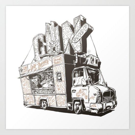 Shopping Truck Art Print