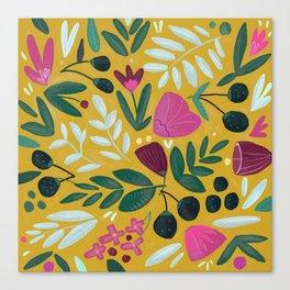 Mustard bouquet Canvas Print