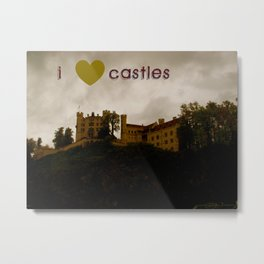 i ❤ castles Metal Print