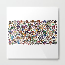 Cute Pattern Metal Print