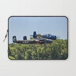 B-24 and Hellcat World War II Aircraft Fly Together at Mosby Missouri Laptop Sleeve