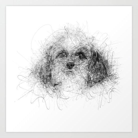 Dog Line Art Print