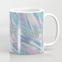 hologram Mugs featuring I LIVE IN A HOLOGRAM WITH YOU... by Beauty Killer Art